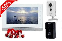 Комплект IP домофона Dahua DH-VTH1550CH +Внутренняя IP-камера Dahua DH-IPC-K15P