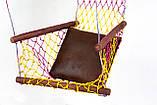 """Гамак кресло для дома для сада для дачи гамак с перекладинами туристический сетка сидячий """"Лиана"""", фото 4"""