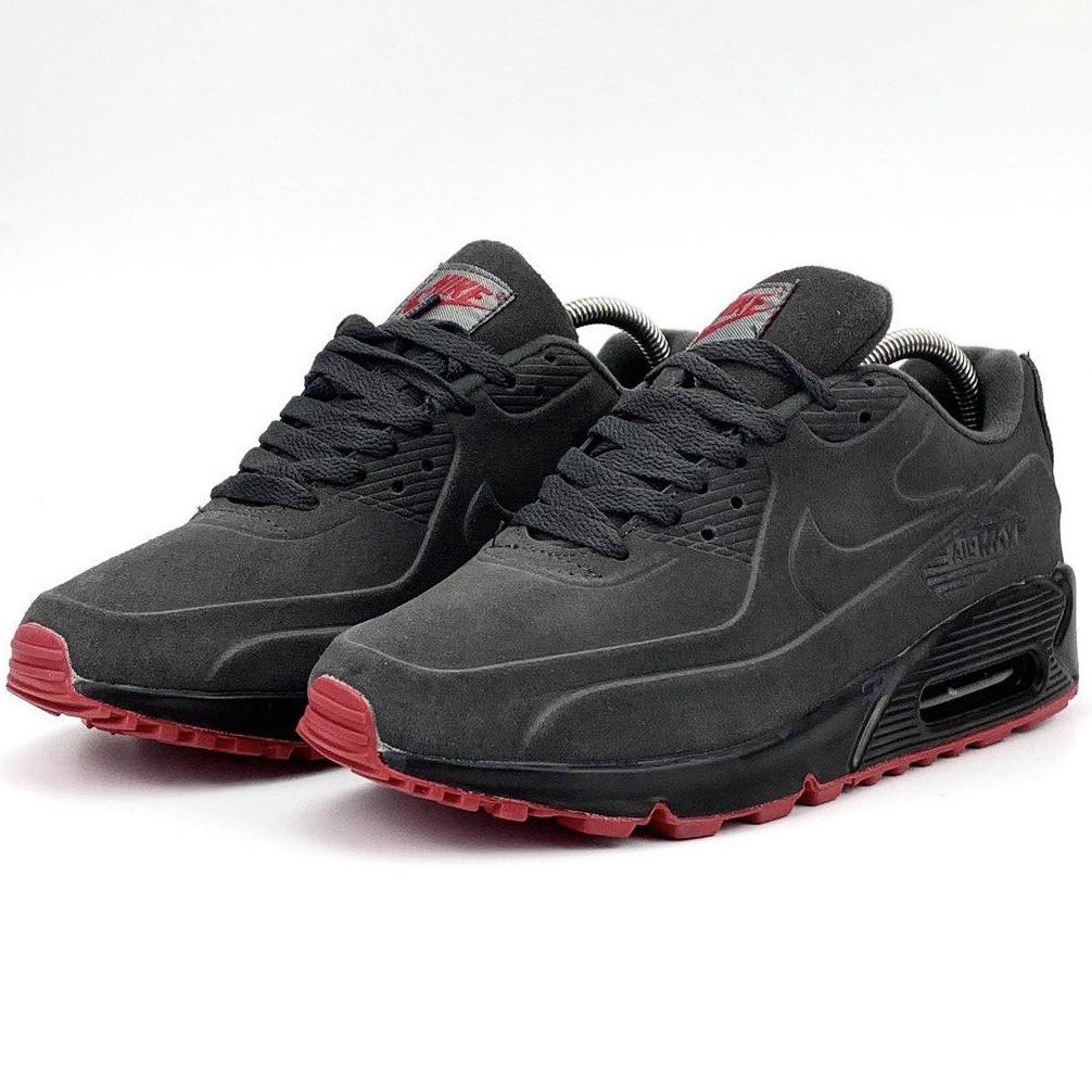 Кроссовки мужские Nike 90 vt (серые) Top replic