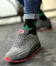 Кроссовки мужские Nike 90 vt (серые) Top replic, фото 3
