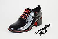 Туфли лакированные со шнурком 12019