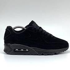 Кроссовки мужские Nike 90 vt (черные) Top replic, фото 3