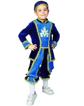 Карнавальный костюм для мальчика Принц. Комплект - кофта, бриджи, головной убор