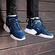 Теплые-зимние мужские кроссовки Nіke Air Huarache Acronym МЕХ (синие) Top replic, фото 4
