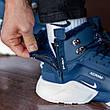 Теплые-зимние мужские кроссовки Nіke Air Huarache Acronym МЕХ (синие) Top replic, фото 6