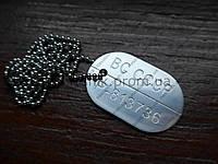 Армейский жетон алюминий 47х30х1,5 (СССР)