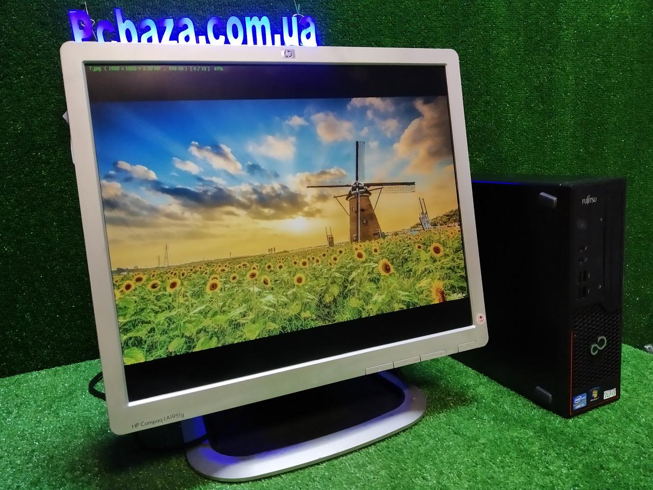 """ПК + монитор 19"""", i3-3220 3.3, 4 ГБ, 500 Гб, 2xCOM, 10 USB, USB 3.0 Настроен. Германия!"""