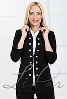 Женский пиджак на пуговицах Lipar Черный