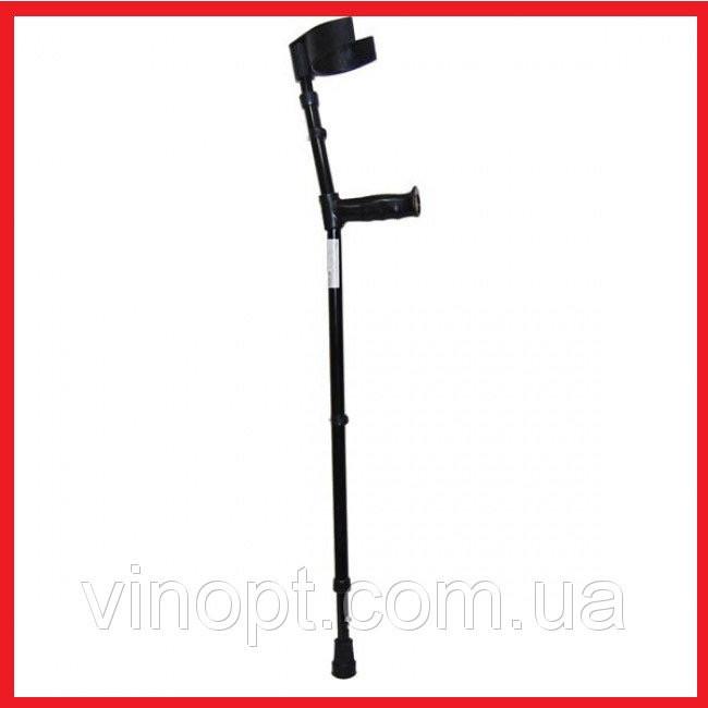 Костыль 1 шт алюминиевый локтевой с раздвижной ручкой (с устройством противоскольжения ) НТ-02-009