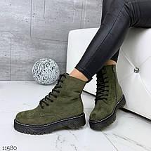 Темно зеленые ботинки, фото 2