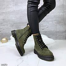 Темно зеленые ботинки, фото 3