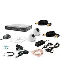 Комплект видеонаблюдения Tecsar AHD 2IN-3M DOME, фото 1