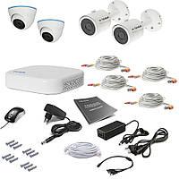 Комплект видеонаблюдения Tecsar 4OUT-MIX, фото 1