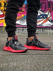 Кроссовки женские Adidas Alphabounce (черные-красные) Top replic, фото 3
