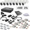 Комплект видеонаблюдения Tecsar 8OUT+2TБ HDD