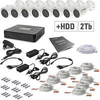 Комплект видеонаблюдения Tecsar 8OUT+2TБ HDD, фото 1