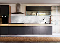 Кухонный фартук Мрамор Серый (виниловая наклейка на стеновую панель скинали пленка камень мраморный) 600*2500