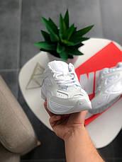 Кроссовки женские Nike M2K Tekno (полностью белые) Top replic, фото 2