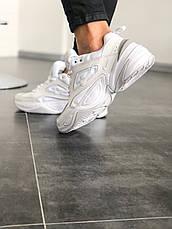 Кроссовки женские Nike M2K Tekno (полностью белые) Top replic, фото 3
