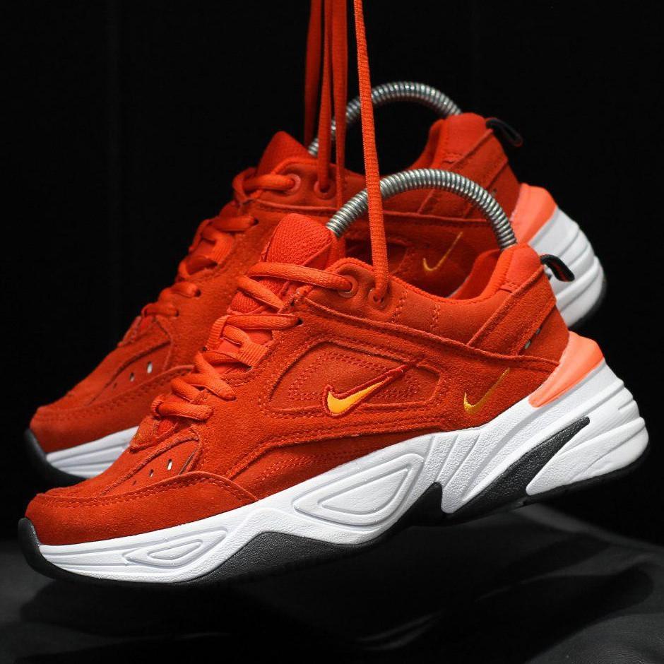 Кроссовки женские Nike M2K Tekno (красные) Top replic
