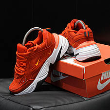 Кроссовки женские Nike M2K Tekno (красные) Top replic, фото 3