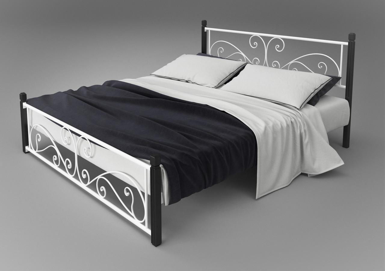 Кровать кованая Нарцисс (деревянные ножки) Тенеро 190(200) х 180