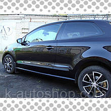 Молдинги на двері для Volkswagen Polo V 3dr 2009-2014, lift 2014-2017