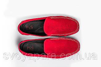 Мокасини замшеві Prime shoes червоні