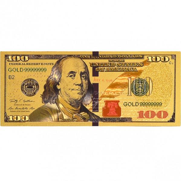 Магнит «100 Долларов» прямоугольный