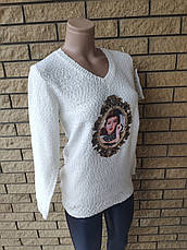 Кофта, свитер женский с аппликацией  X&Y, фото 3