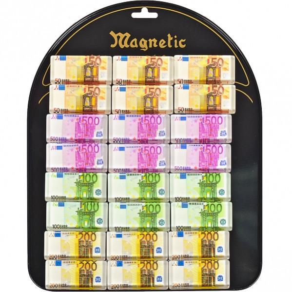 Магнит «Евро « прямоугольный 24 шт на планшетете