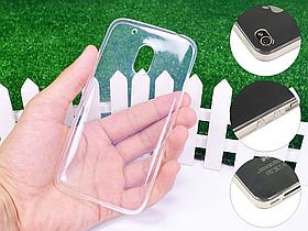 Ультратонкий 1мм силиконовый чехол для Motorola Moto G4 Play XT1602