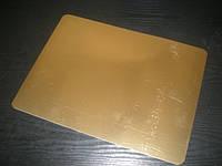 Подложка под торт прямоугольная серебро/золото  60*120