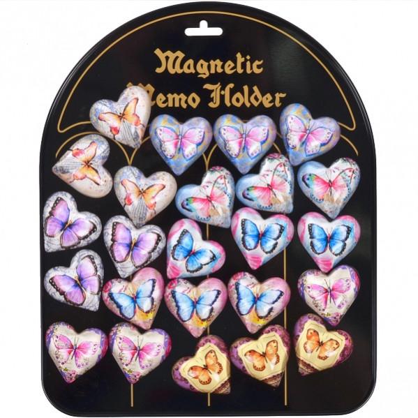 Магнит «Бабочки» сердце 24 шт на планшете