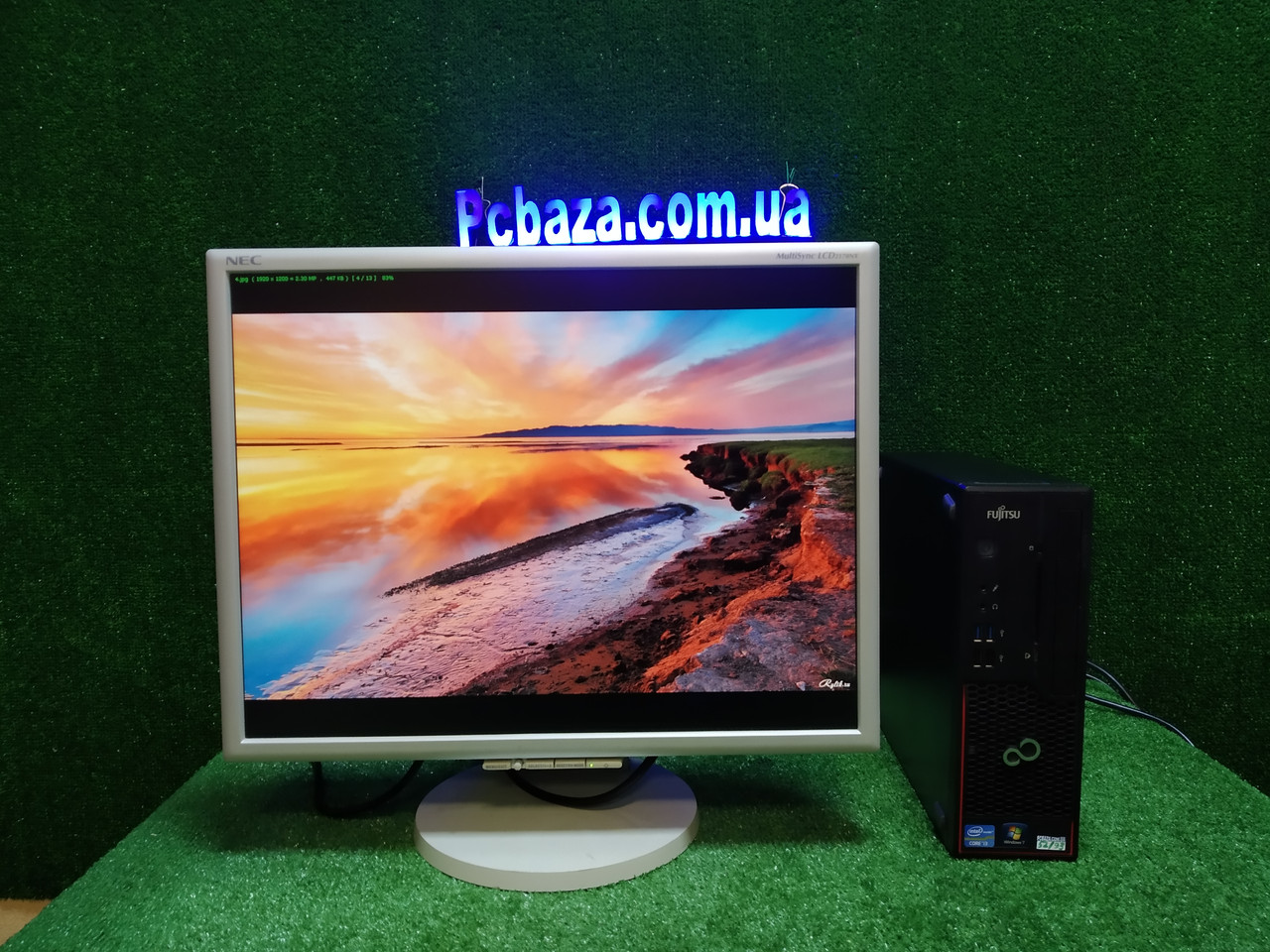 """ПК + монитор 22"""" PVA, i3-3220 3.3, 4 ГБ, 500 Гб, 2xCOM, 10 USB, USB 3.0 Настроен. Германия!"""