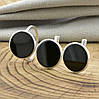 Серебряный набор 1226БС кольцо размер 16.5 + серьги 14х14 мм вставка оникс, фото 2
