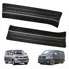 Пластиковые накладки на пороги для Volkswagen T5 2003-2009 / T5.2 2009-2015