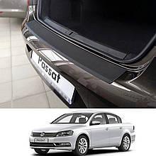 Пластиковая накладка заднего бампера для Volkswagen Passat B7 4dr sedan 2010-2015
