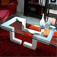 """Очень красивый журнальный стол со стеклом в стиле лофт """"Зенон"""""""