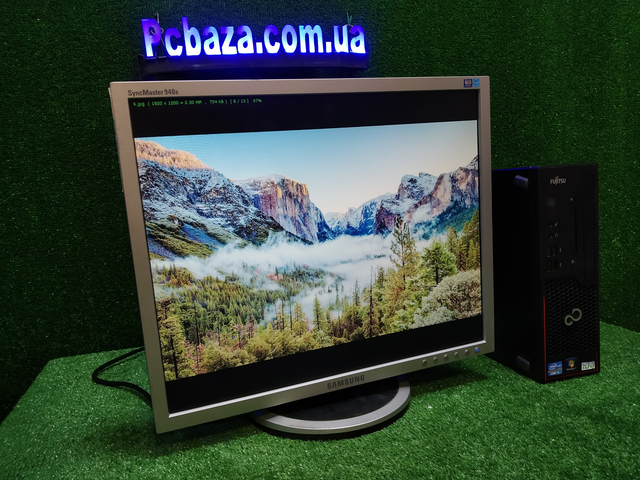 """ПК + монитор 19"""", i3-3220 3.3, 4 ГБ, 500 Гб, 2xCOM, 10 USB, USB 3.0 Настроен. Германия! ОПТ"""