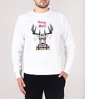 Свитшот новогодний зимний Meery Christmas X-white | Кофта зимняя, фото 1