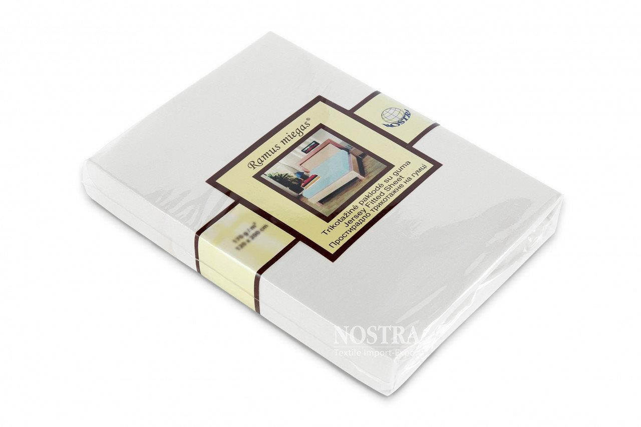 Трикотажная простынь на резинке Nostra (180х200) Белая