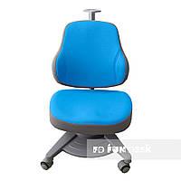 Подростковое ортопедическое компьютерное кресло от 4 до 18+ лет ТМ FunDesk Agosto Blue голубое