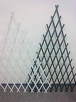 Шпалера решетка садовая пирамидка 1.5х1,0м белая опора для растений, фото 1