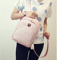 Женский городской рюкзак со змеиным карманом, фото 2