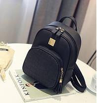Женский городской рюкзак со змеиным карманом, фото 3
