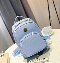 Жіночий рюкзак міський зі зміїним кишенею, фото 2
