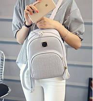 Жіночий рюкзак міський зі зміїним кишенею, фото 3
