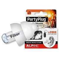 Беруши для защиты от громкой музыки, концертов, клубов Alpine PartyPlug White