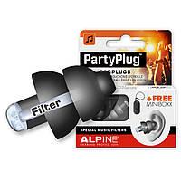 Беруши для защиты от громкой музыки, концертов Alpine PartyPlug Black., фото 1